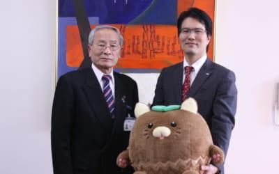 甲斐市長と細田理事長が対談しました